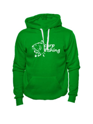 Толстовка Carp fishing 2 зеленая