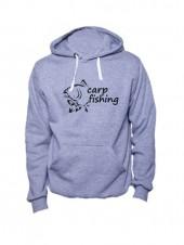 Толстовка Carp fishing 2 серая