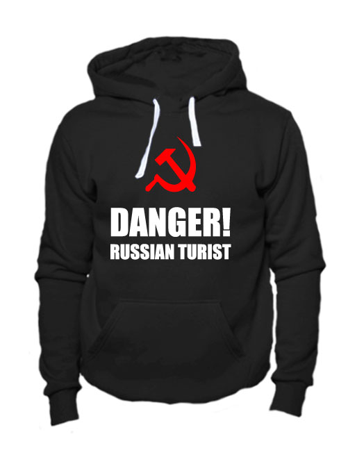Толстовка Danger russian turist черная