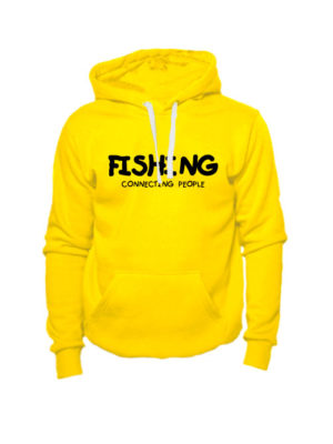 Толстовка Fishing connecting people желтая