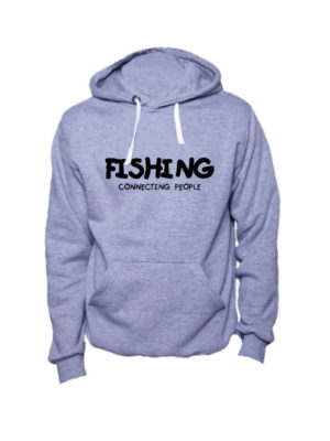 Толстовка Fishing connecting people серая