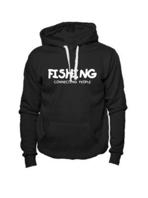 Толстовка Fishing connecting people черная