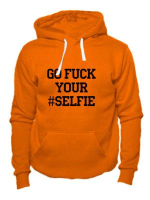 Толстовка Go fuck your selfie оранжевая