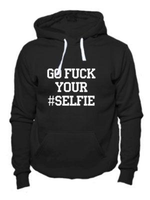 Толстовка Go fuck your selfie черная