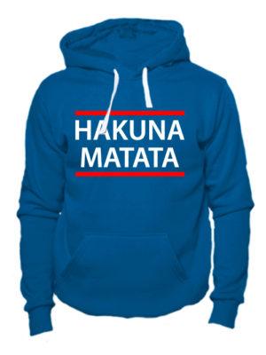 Толстовка Hakuna matata индиго
