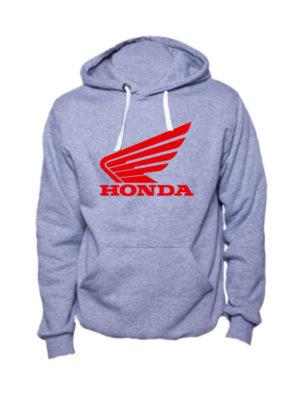 Толстовка Honda серый меланж