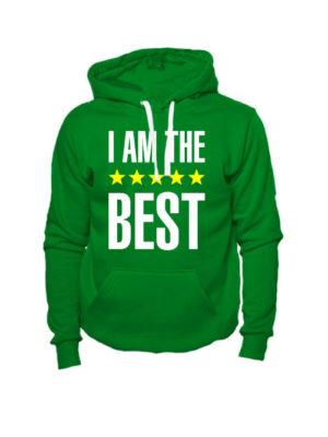 Толстовка I am the best зеленая