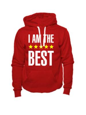 Толстовка I am the best красная