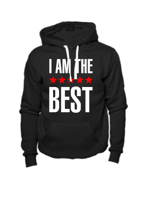Толстовка I am the best черная