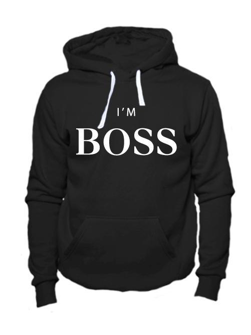 Толстовка I'm boss черная
