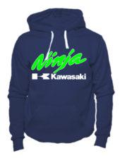 Толстовка Kawasaki ninja темно синяя
