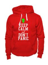 Толстовка Keep calm and don't panic красная