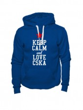 Толстовка Keep calm and love cska индиго