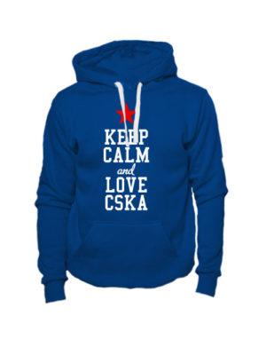 Толстовка Keep calm and love cska индиго