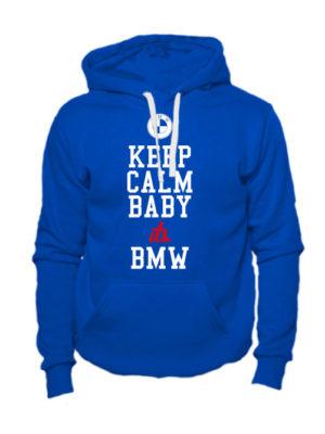 Толстовка Keep calm baby it's BMW синяя
