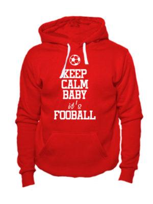 Толстовка Keep calm baby it's football красная