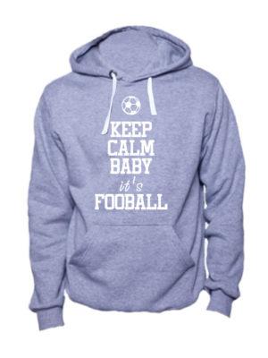 Толстовка Keep calm baby it's football серая