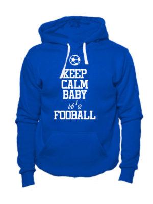Толстовка Keep calm baby it's football синяя