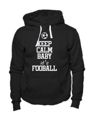 Толстовка Keep calm baby it's football черная