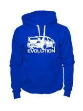 Толстовка Lancer Evolution синяя