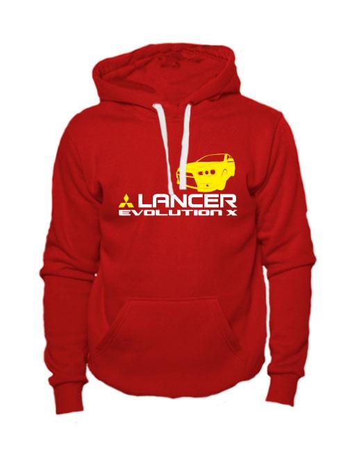 Толстовка Lancer Evolution X красная