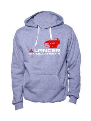 Толстовка Lancer Evolution X серая