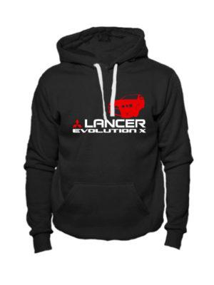 Толстовка Lancer Evolution X черная