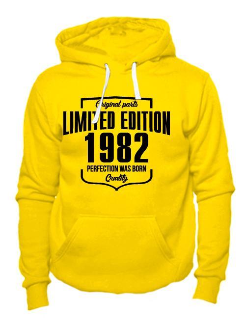 Толстовка Limited Edition 1982 желтая