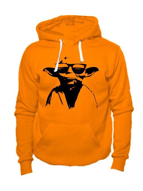 Толстовка Master Yoda оранжевая