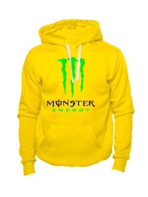 Толстовка Monster energy желтая