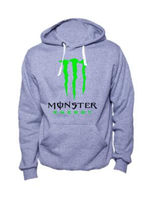 Толстовка Monster energy серая