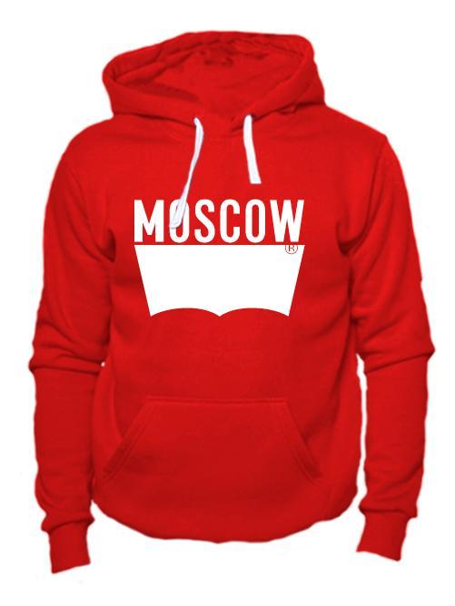 Толстовка Moscow красная
