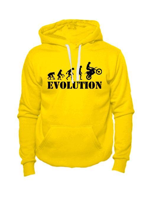 Толстовка Moto Evolution желтая