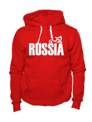 Толстовка Russia красная