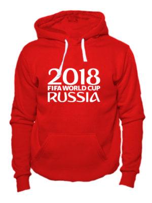 Толстовка Russia fifa world cup 2018 красная