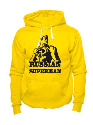Толстовка Russian superman желтая