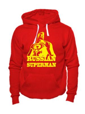 Толстовка Russian superman красная