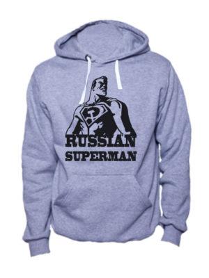 Толстовка Russian superman серая