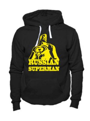 Толстовка Russian superman черная