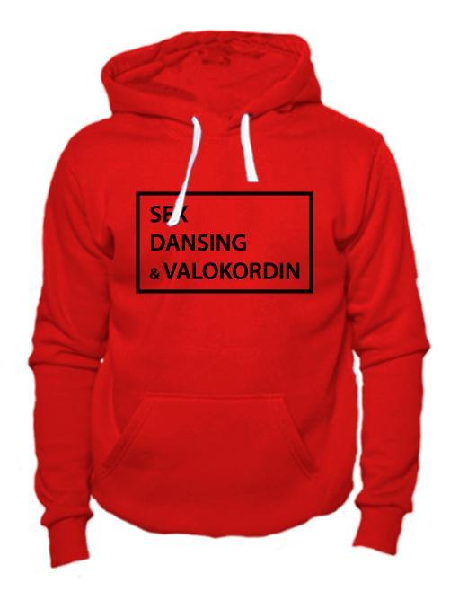 Толстовка Sex Dansing Valokordin красная