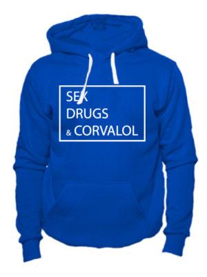 Толстовка Sex Drugs Corvalol синяя