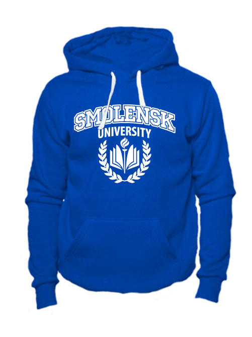 Толстовка Smolensk university синяя