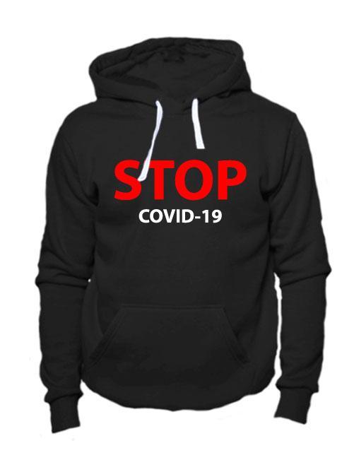 Толстовка Stop covid-19 черная