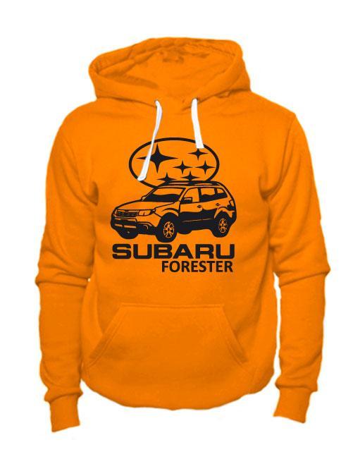 Толстовка Subaru forester оранжевая