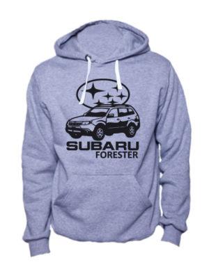 Толстовка Subaru forester серая