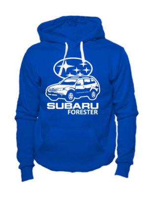 Толстовка Subaru forester синяя
