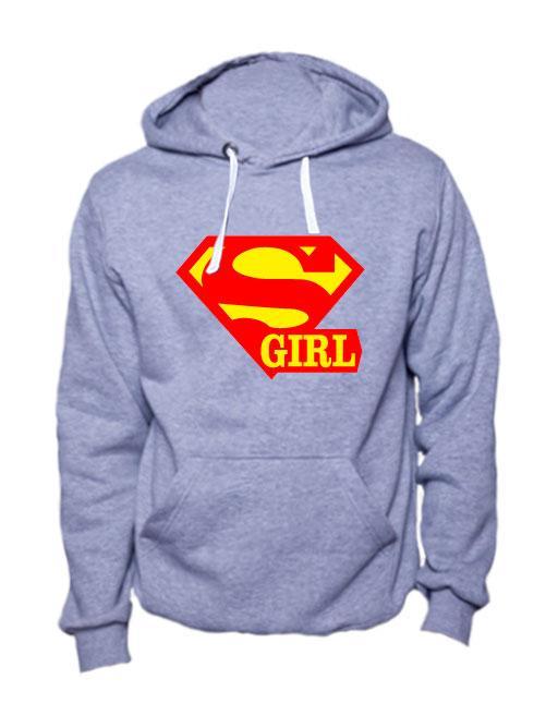 Толстовка Super girl серая