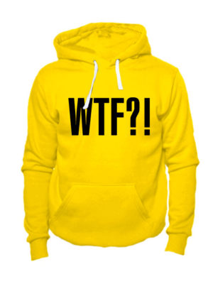 Толстовка WTF желтая