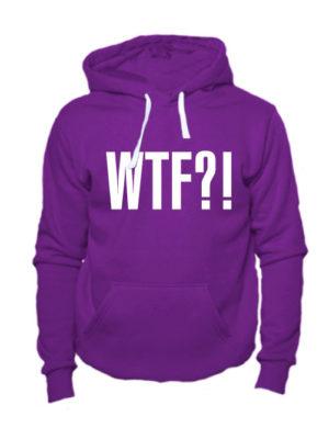 Толстовка WTF фиолетовая