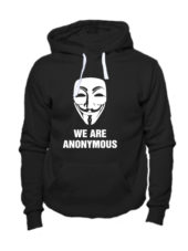Толстовка We are anonymous черная